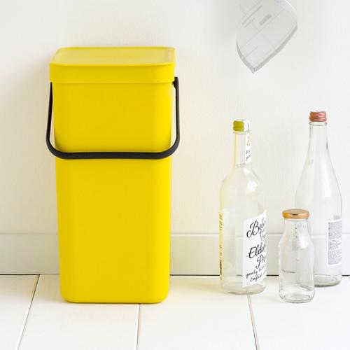 Brabantia|多功能餐廚置物桶16L-黃色