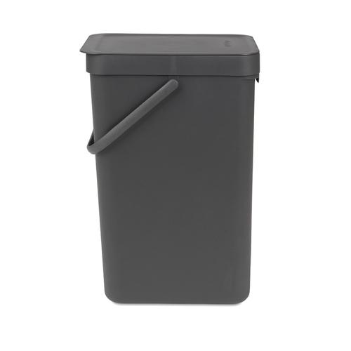 Brabantia|多功能餐廚置物桶16L-灰黑色