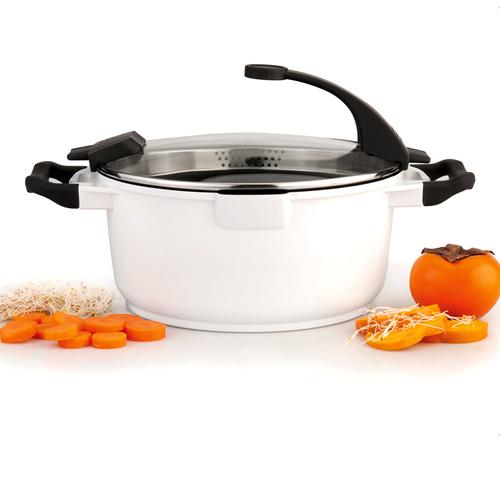 BergHOFF焙高福|亮彩多功能鍋-白湯鍋24CM(4.6L)