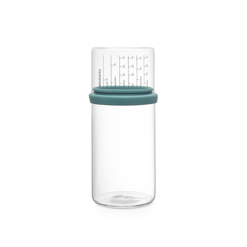 Brabantia| 玻璃量杯儲存罐1L-薄荷藍