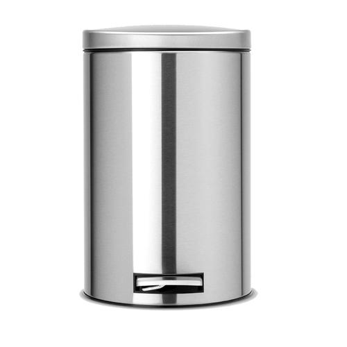 Brabantia|防指紋腳踏式垃圾桶12L-靜音