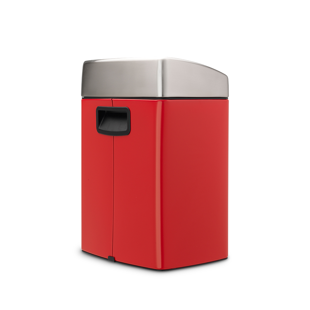 Brabantia │熱情紅方型按壓式垃圾桶-10L