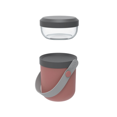 BergHOFF │Leo雙層野餐罐(玫瑰粉)9.5*9.5*15.5CM
