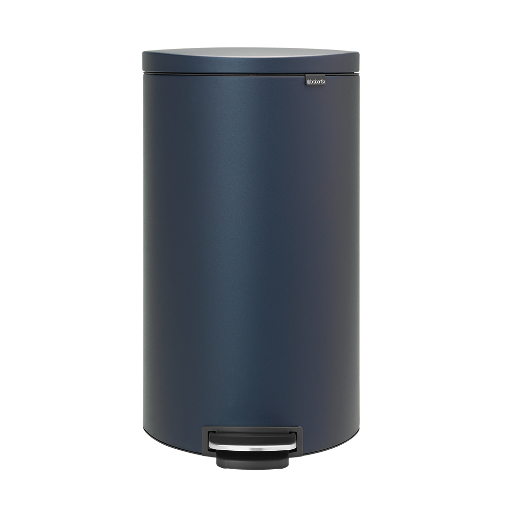 Brabantia|背靠背腳踏式垃圾桶30L 寶藍色