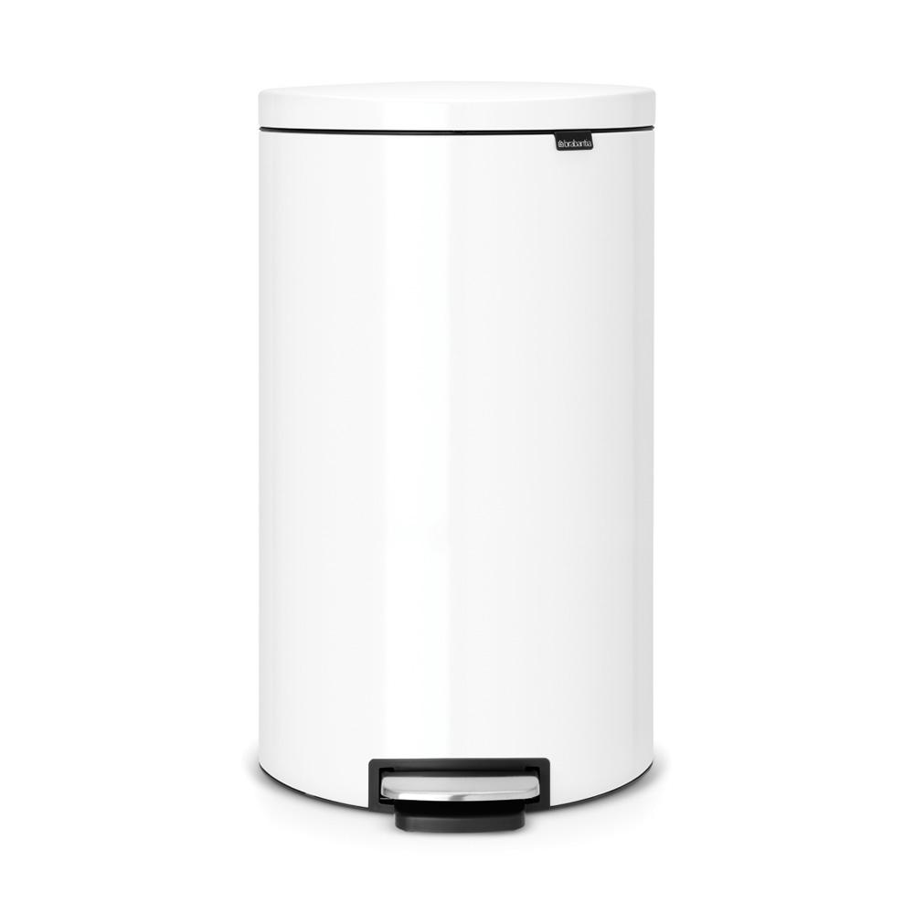 Brabantia|背靠背腳踏式垃圾桶30L 白色