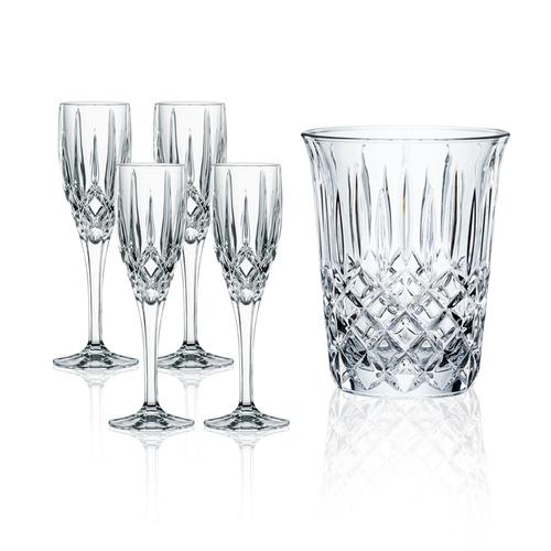 NACHTMANN|貴族派對五件組(冰酒桶+4入香檳杯)
