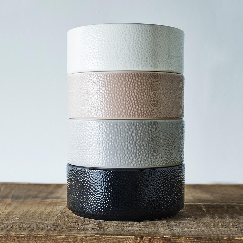 Noritake|彩石-餐碗15cm-雲霧灰