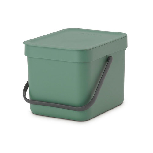 Brabantia 多功能餐廚置物桶6L-冷杉綠