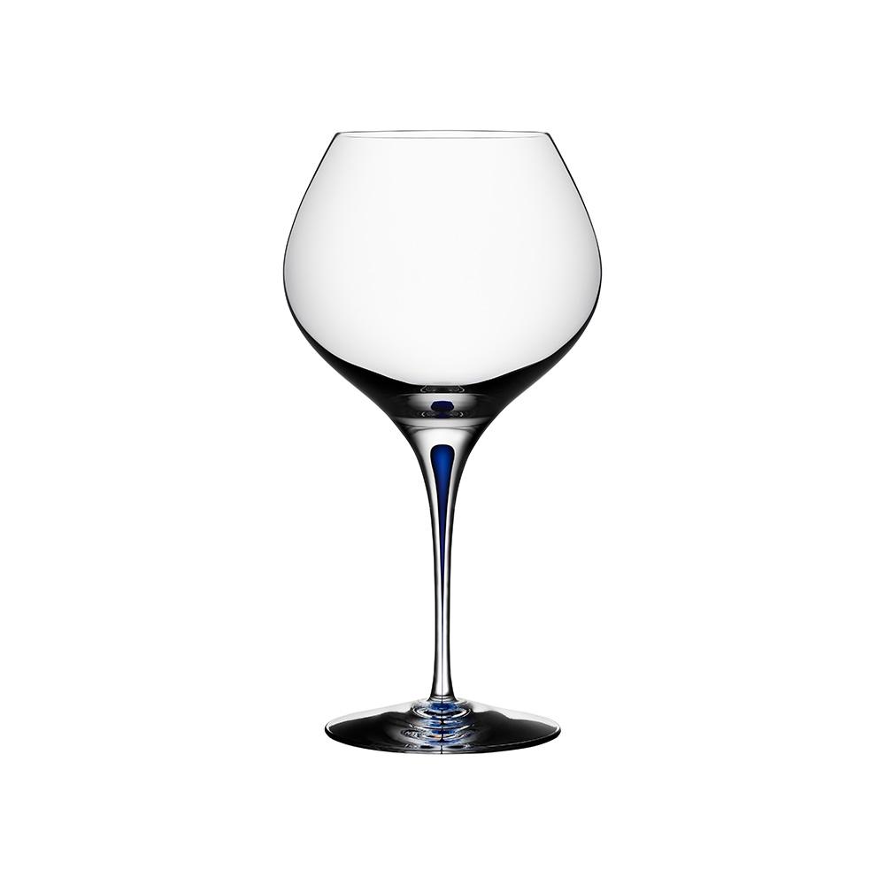 Orrefors 藍色之舞紅酒杯紅酒杯(Bouquet)70C-INTERMEZZO BLUE
