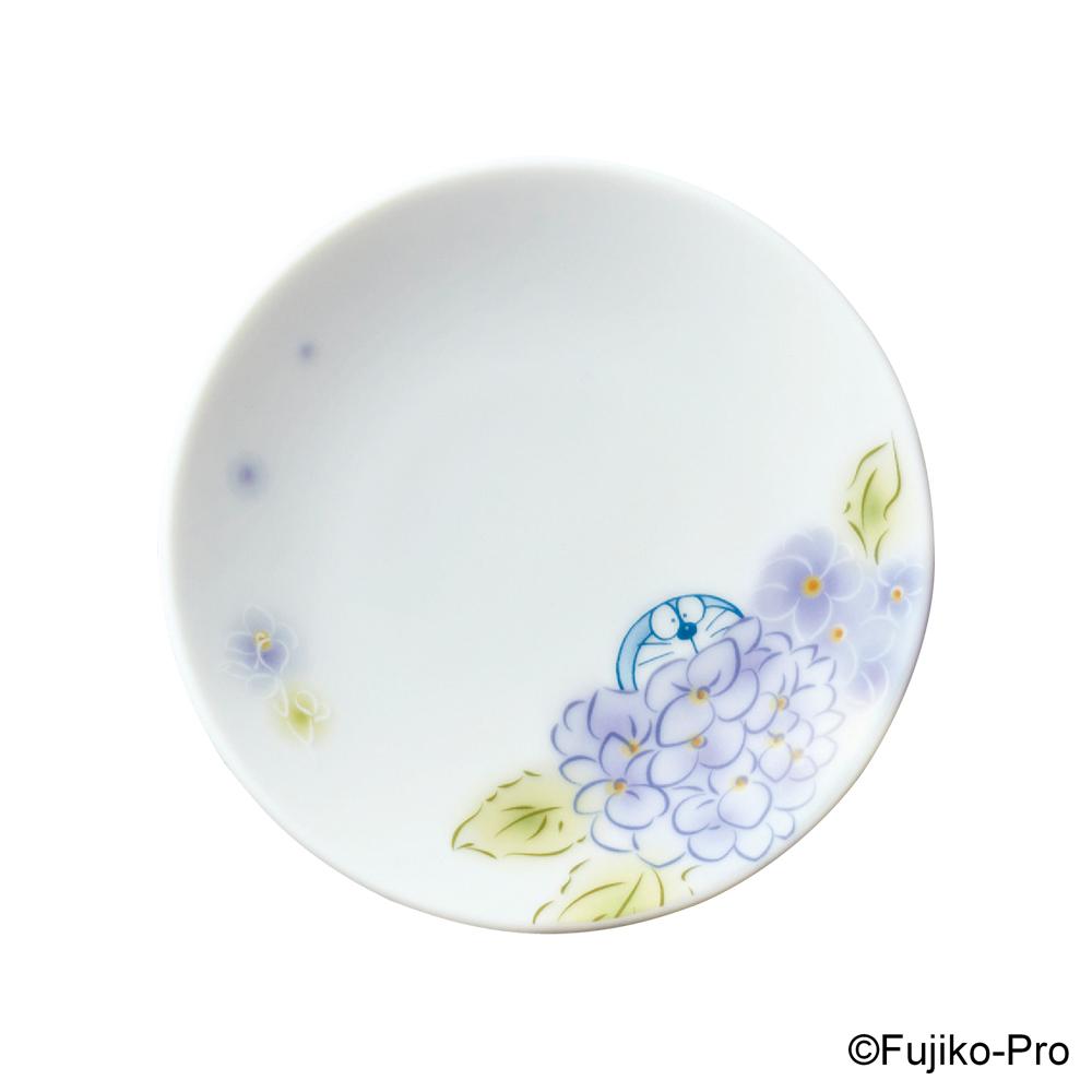 Noritake|哆啦A夢 花卉系列-繡球花 醬油碟 10.4CM