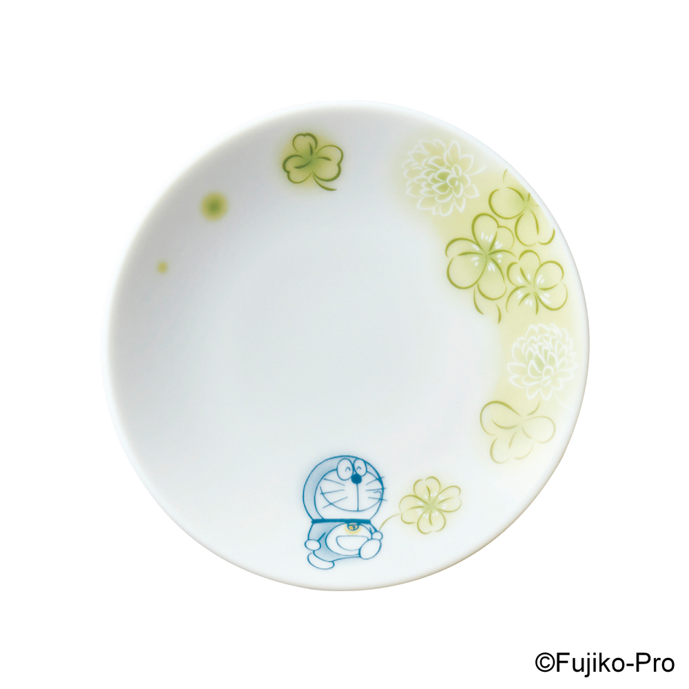 Noritake|哆啦A夢 花卉系列-三葉草 醬油碟 10.4CM