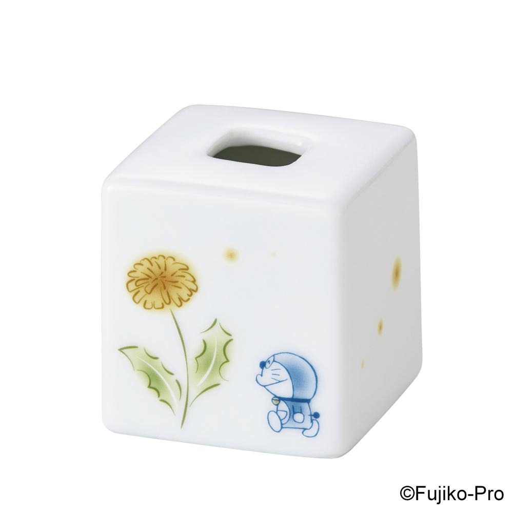 Noritake|哆啦A夢 花卉系列-蒲公英 方形小花瓶 6CM