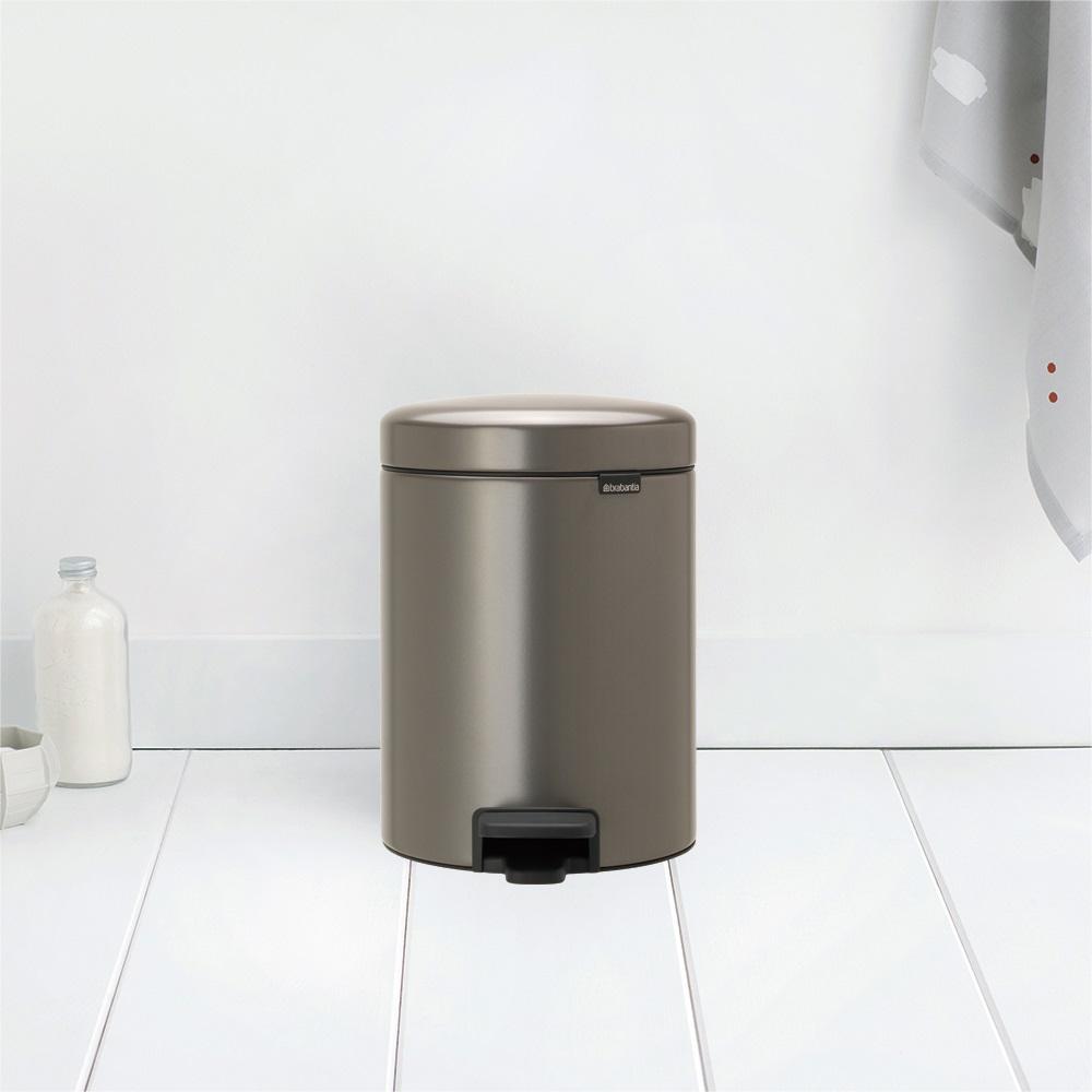 Brabantia NEWICON環保垃圾桶-5L煤灰褐