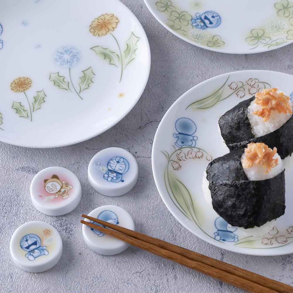 Noritake|哆啦A夢 蒲公英4件組 - 馬克杯 筷架 醬油碟 飯碗