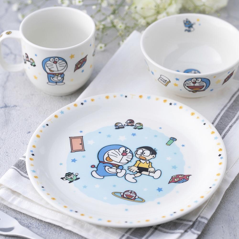Noritake|哆啦A夢 童趣系列2件組 - 飯碗 分隔餐盤