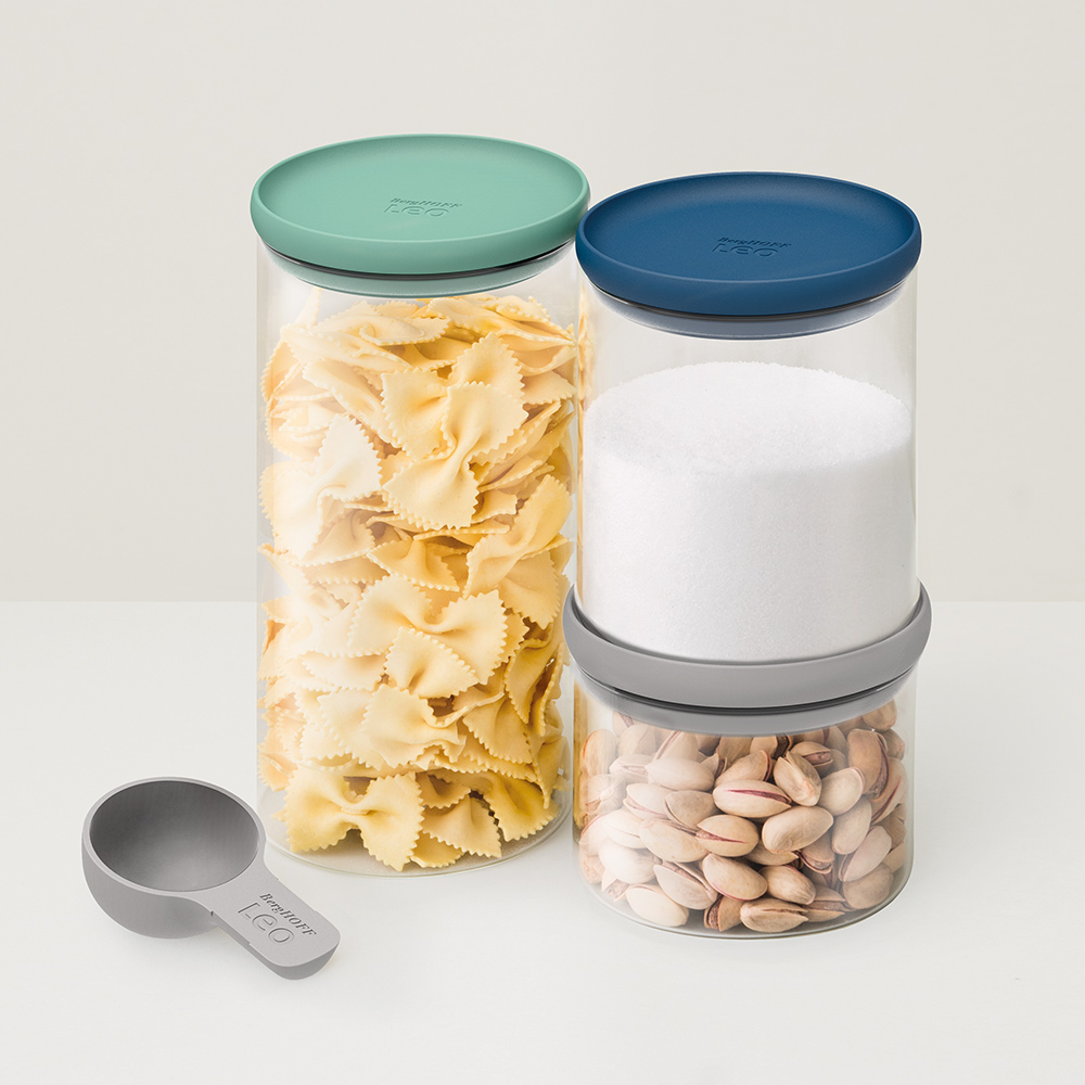 BergHOFF焙高福|Leo 玻璃密封罐3件組(附匙)