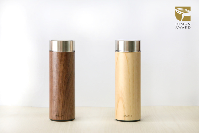 木入三分 兩倆一起 汋飲保溫瓶-胡桃&栓木  330ML