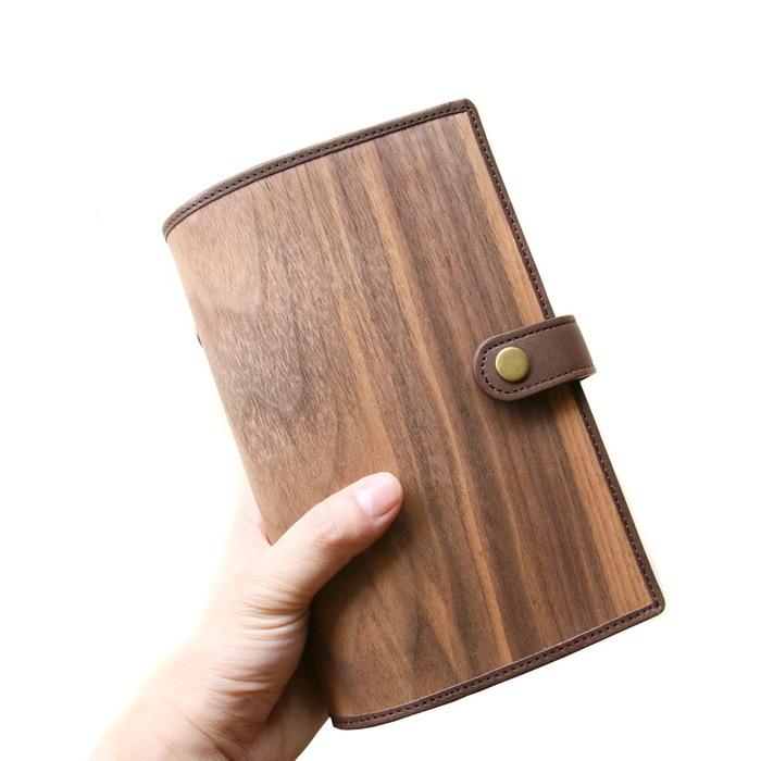 木入三分|木皮革筆記本