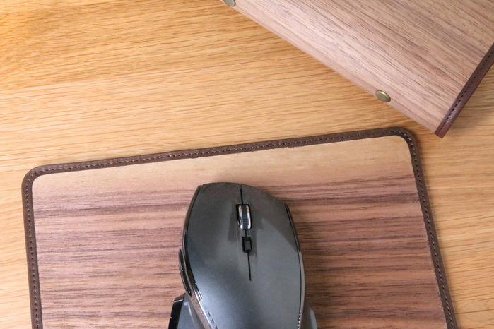 木入三分|木皮革滑鼠墊