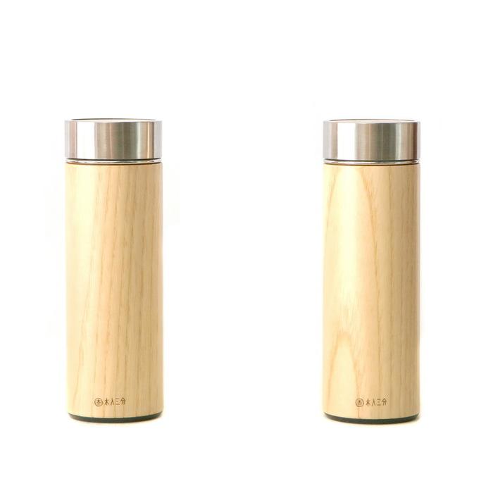 木入三分|兩倆一起-汋飲保溫瓶(栓木)  330ML
