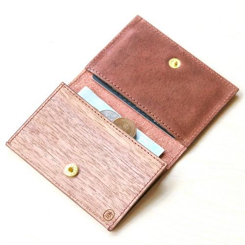 木入三分|木皮革零錢包