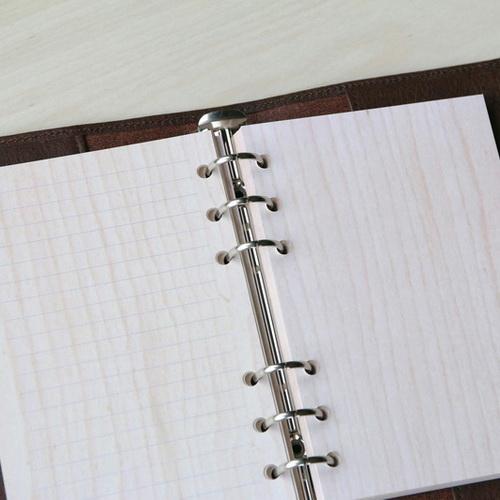 木入三分|栓木木紋活頁紙(類A6 六孔)