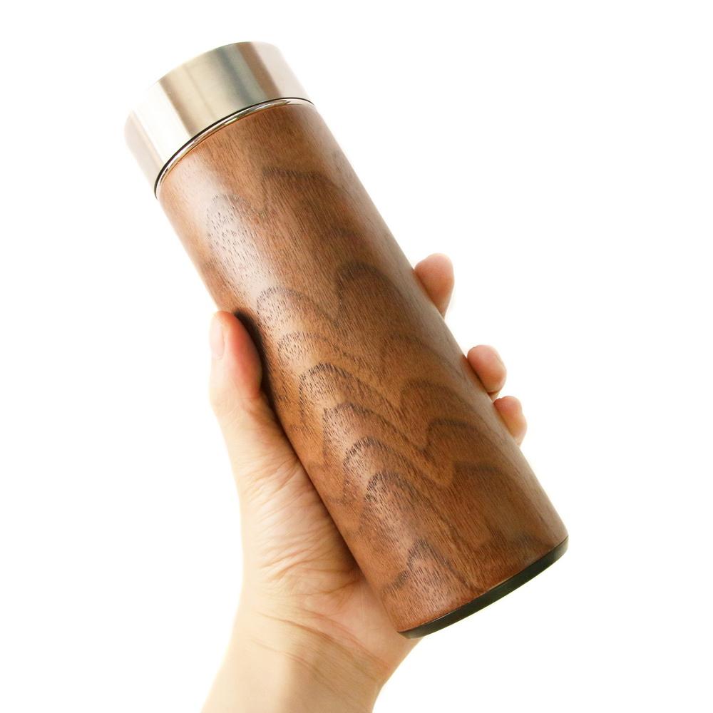 木入三分|汋飲保溫瓶(胡桃) 330ML