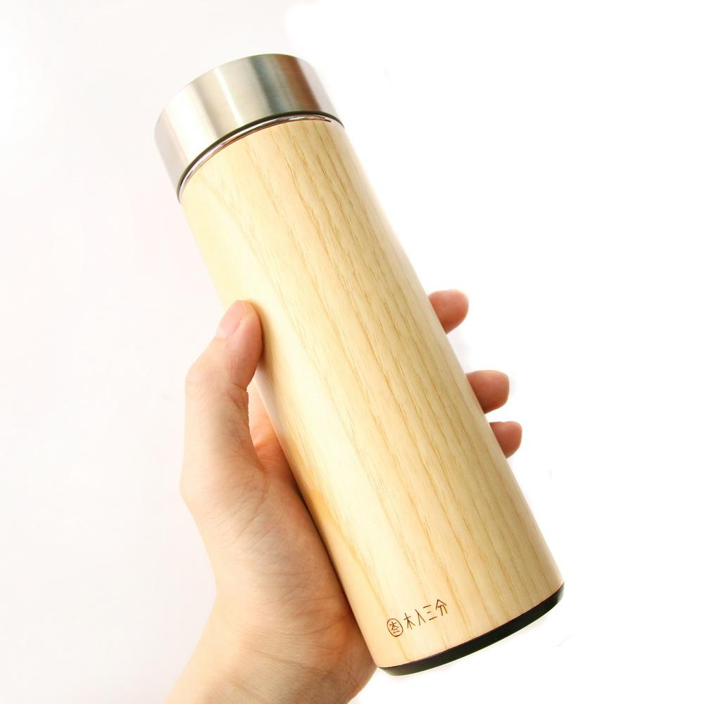 木入三分 汋飲保溫瓶(栓木)  330ML