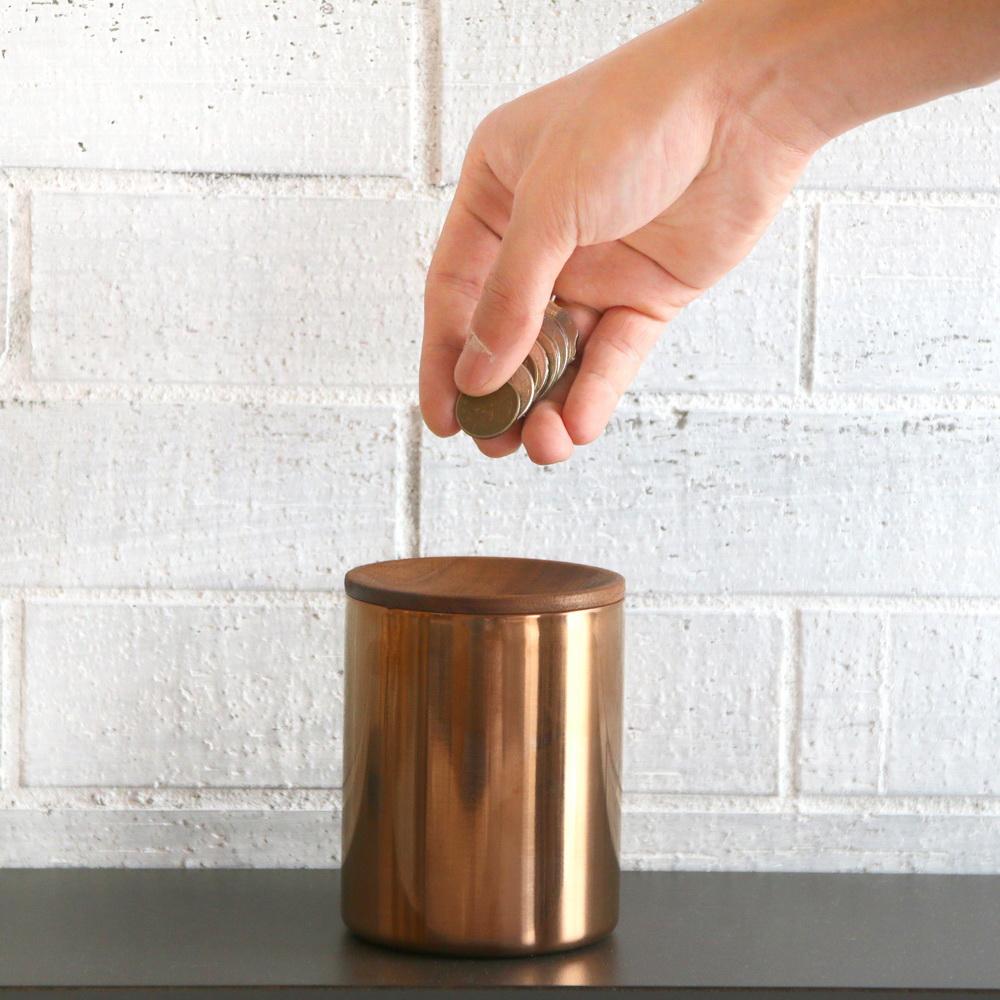 木入三分 倆倆一起-木合金零錢筒