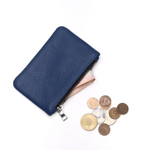 Beladesign│本來牛皮零錢包-藍色