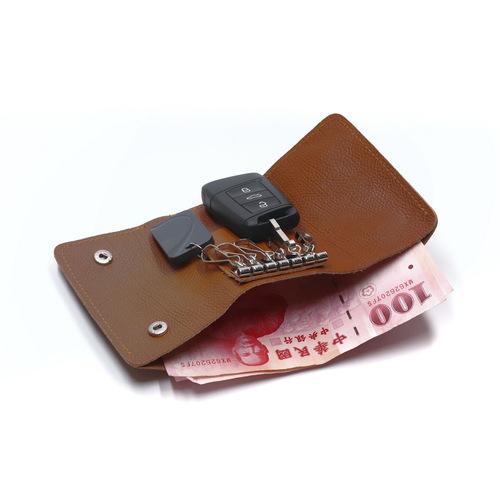 Beladesign│鑰匙錢包-咖啡色