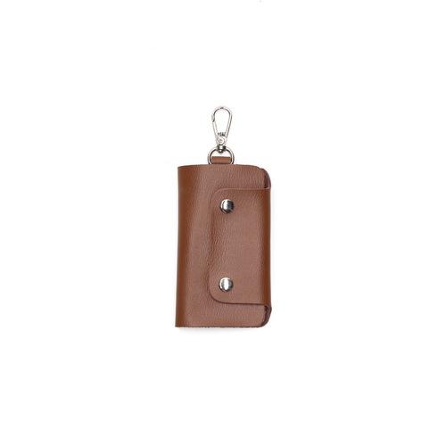 本來設計 | 手工真皮鑰匙包-咖啡色
