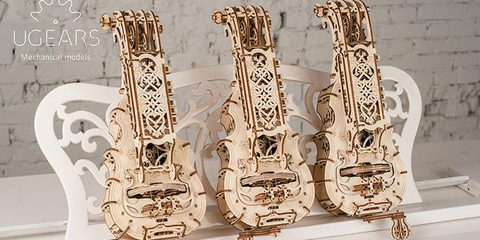 Ugears|自我推進模型 Hurdy-gurdy 手搖風琴