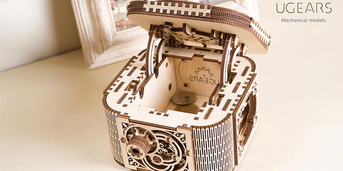 (複製)Ugears|自我推進模型 Treasure box 珠寶盒