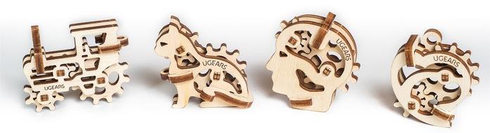 Ugears|自我推進模型 手癢系列4入組