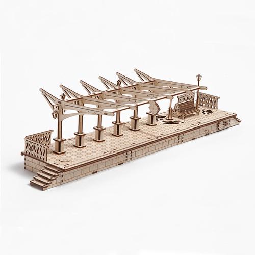 Ugears|自我推進模型 Railway platform 車站月台