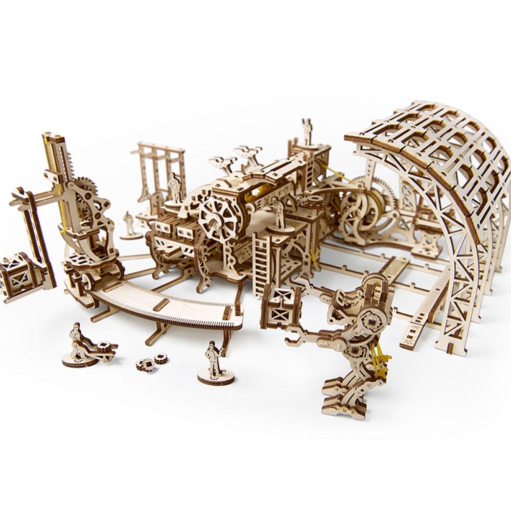 Ugears|自我推進模型 Robot factory  機械小鎮-機器人工廠