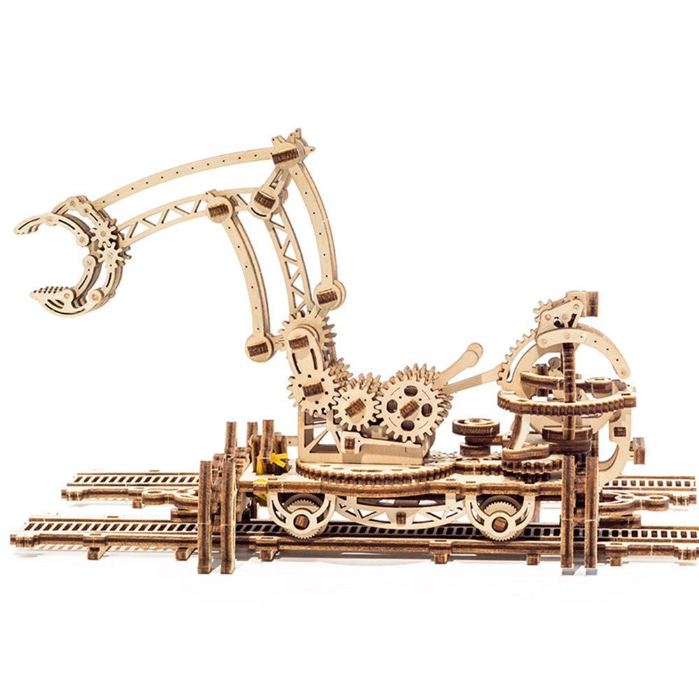 Ugears|自我推進模型 Rail Manipulator 機械小鎮-鐵道怪手