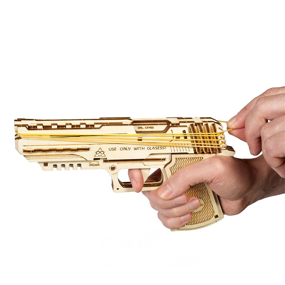 Ugears|自我推進模型 Wolf-01 Handgun 沃夫001手槍