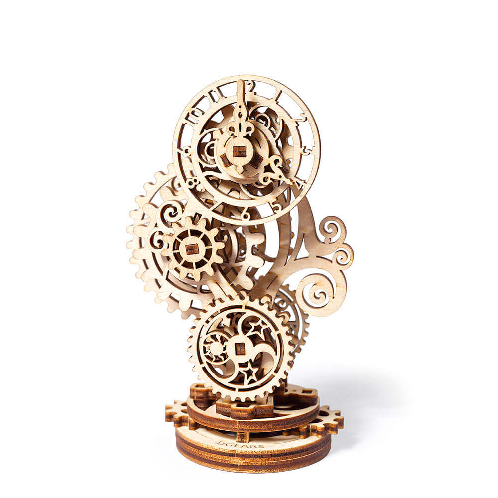 Ugears|自我推進模型 Steampunk Clock 蒸氣龐克鐘
