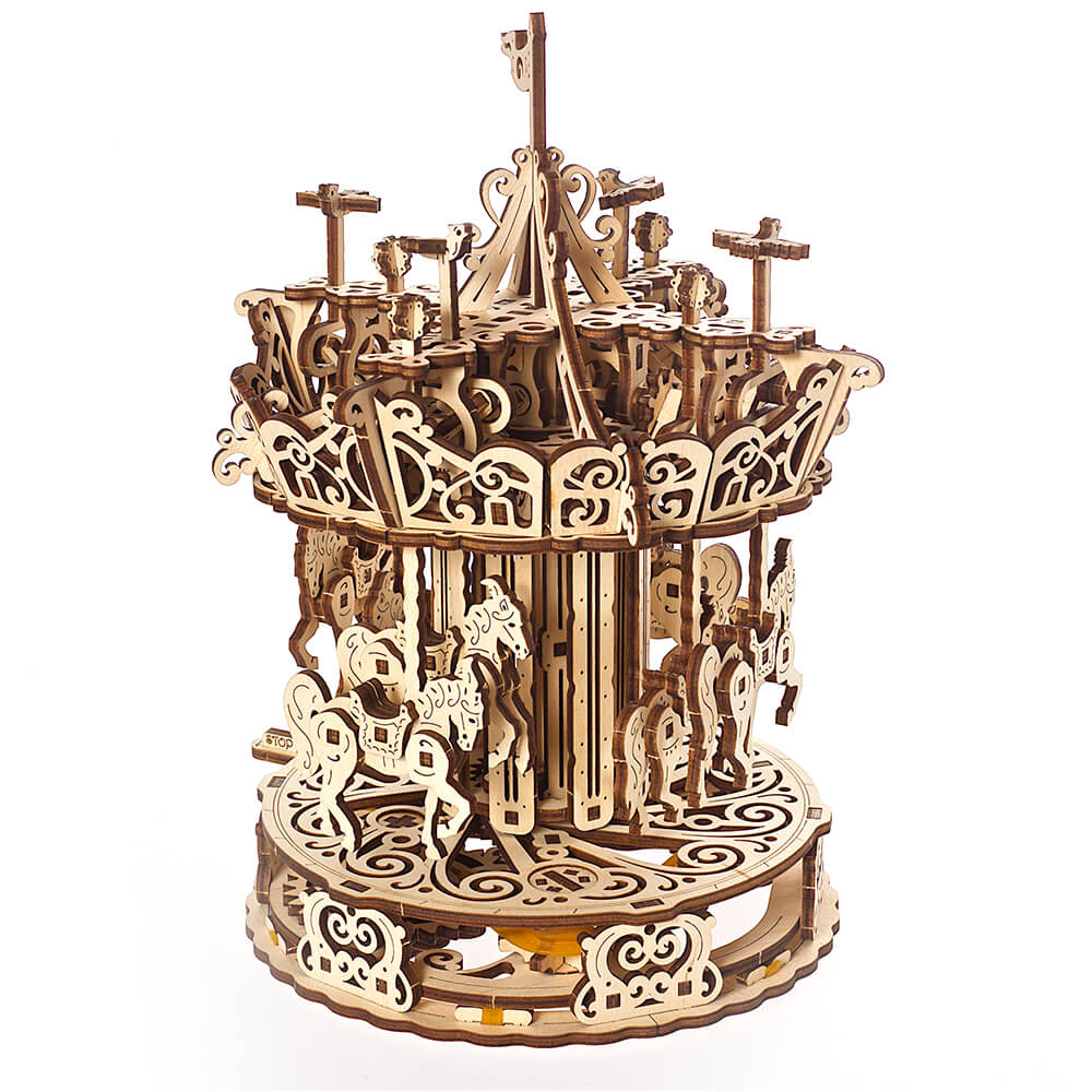 Ugears 自我推進模型 The Carousel 霍爾斯的旋轉樂園