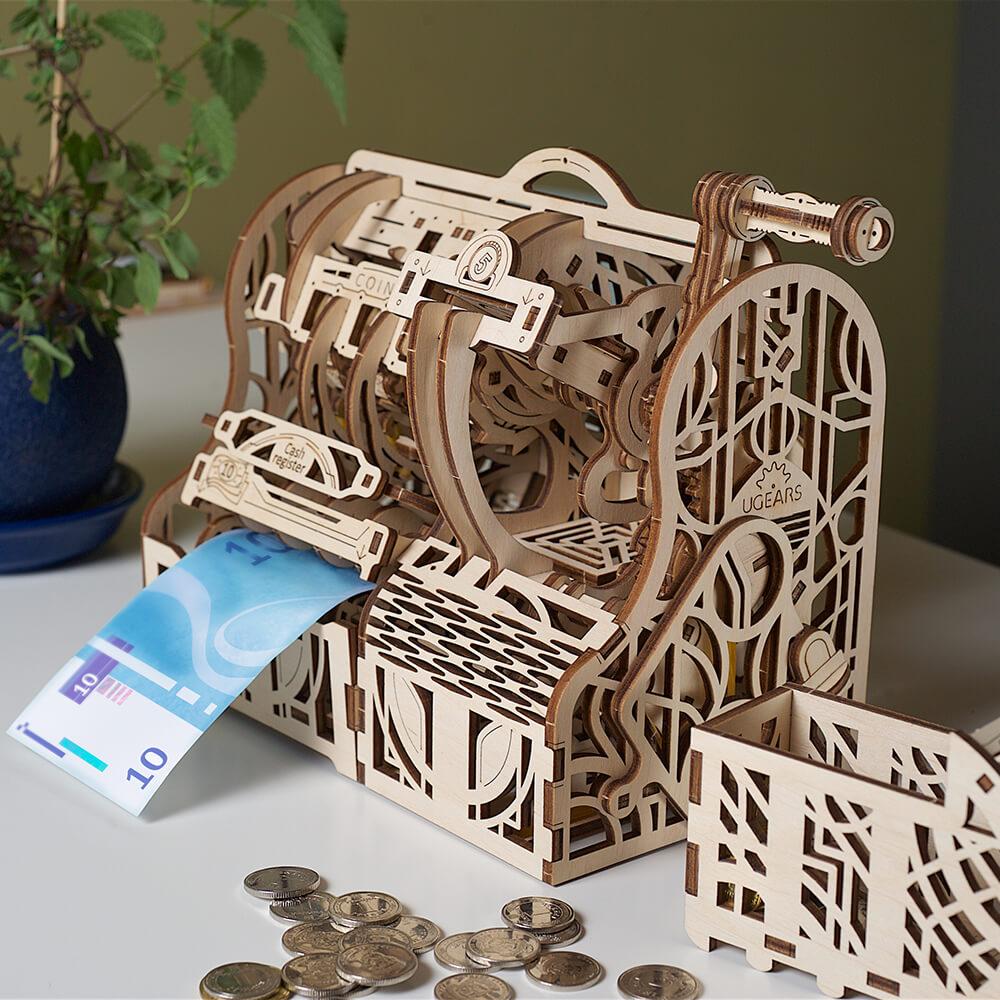 Ugears|自我推進模型 Cash Register 凱西收銀機