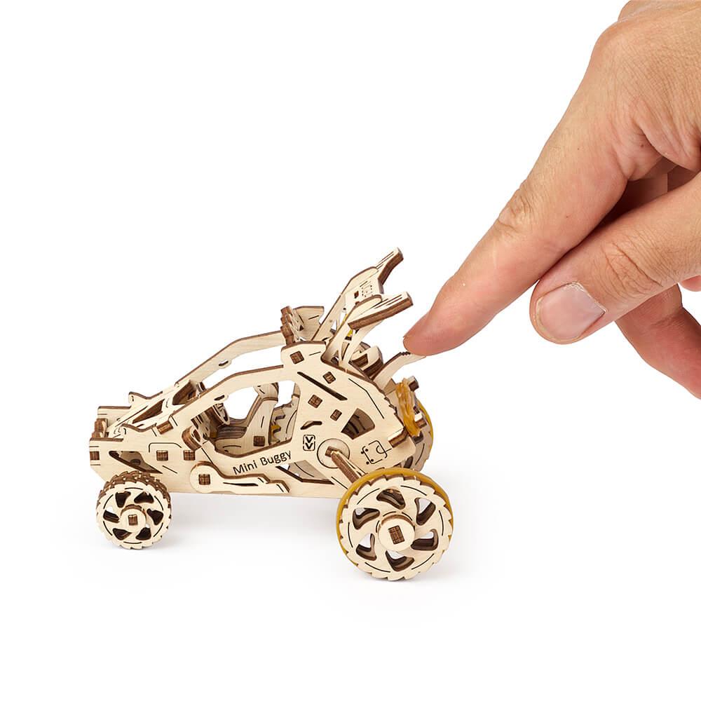 Ugears|自我推進模型 Mini-Buggy 飆沙小車車