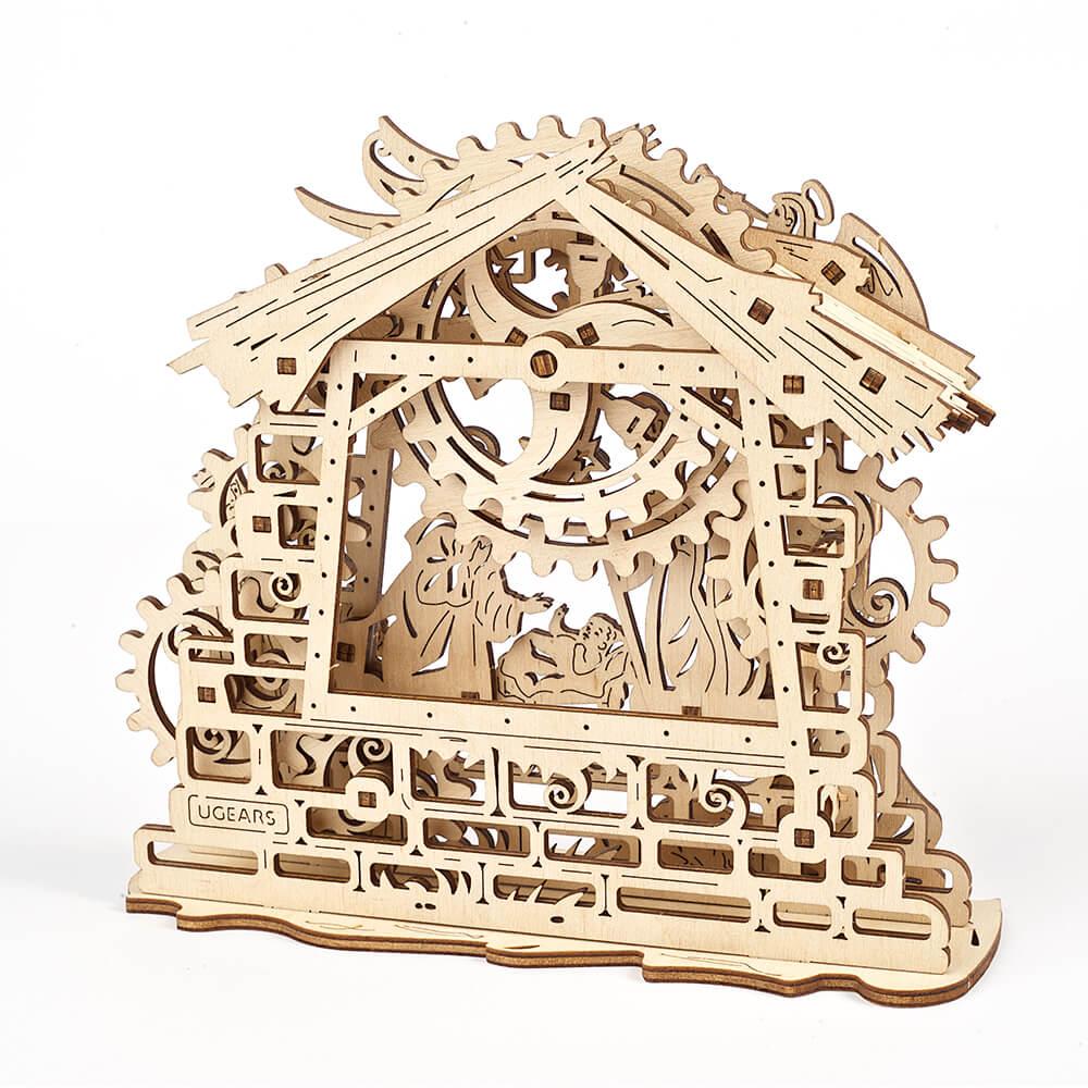 Ugears 自我推進模型 Nativity Scene 馬槽裡的平安夜