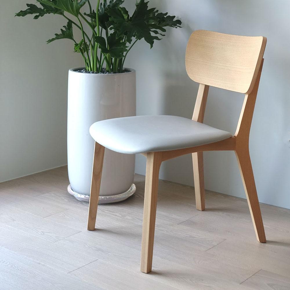 viithe|HOUR L 時聚餐椅皮革版(自然色)