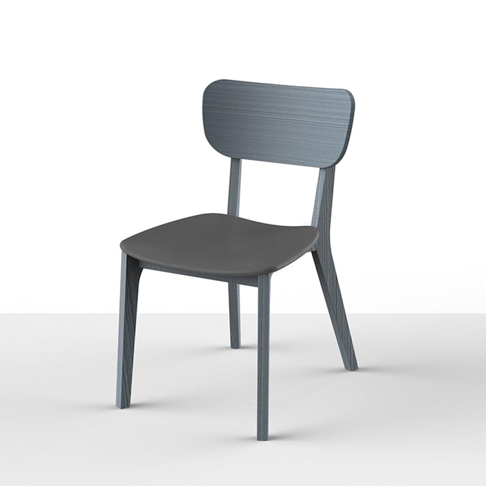 viithe|HOUR L 時聚餐椅皮革版 特別版-宇宙灰