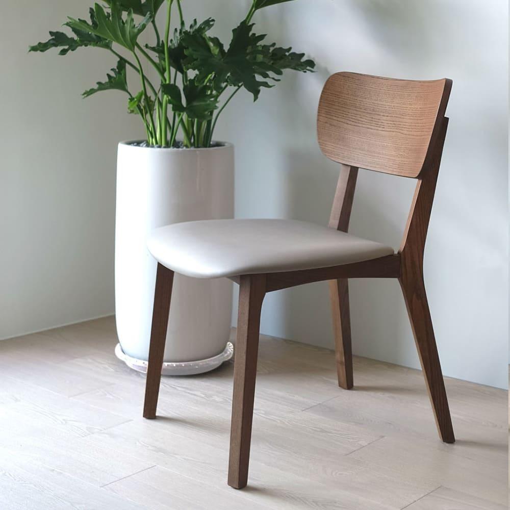 viithe|HOUR L 時聚餐椅皮革版(肉桂色)