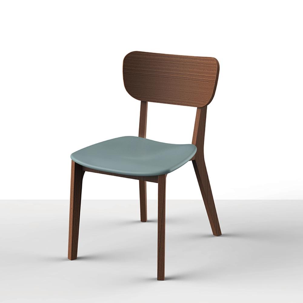 viithe|HOUR L 時聚餐椅皮革版胡桃色(限量版灰玉色座墊)