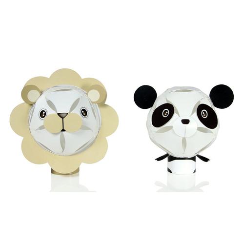 GEWAY|擁瓣燈飾 動物系列小夜燈-獅子+大貓熊