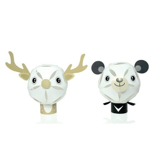 GEWAY|擁瓣燈飾 動物系列小夜燈-台灣黑熊+台灣梅花鹿